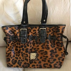 Dooney and Bourke Leopard Print Leather Handbag